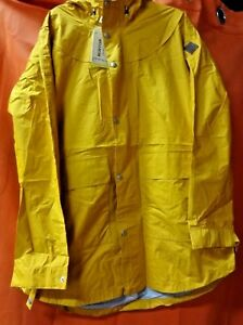 6a9b88b5df5 Details about Burton Golden Yellow Hooded Rain Jacket, Womens Large (RS11)