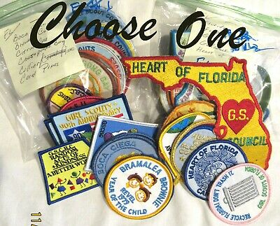47 FLORIDA Girl Scout COUNCIL PATCHES Most NEW CHOOSE ONE Combine Ship