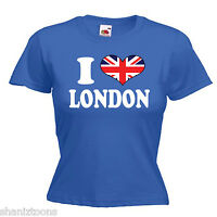 I Love Heart London Ladies Lady Fit T Shirt 13 Colours Size 6 - 16