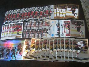 Huge Lot of (50) Marian Hossa Hockey Cards Senators
