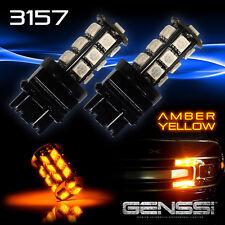 4x 3157 High Power Amber Yellow SMD LED Turn Signal Blinker Corner Lights bulbs