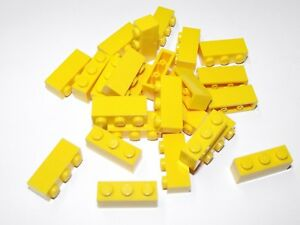 LEGO New Lot of 4 Bright Light Yellow 1x2x1 1//3 Curved Top Bricks