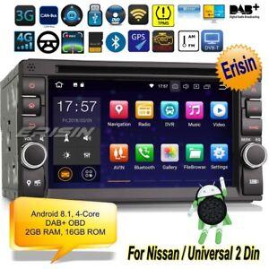 Android 8.1 Nissan Autoradio 2 Din Double SatNav TNT DVD DAB+OBD ... 912e14d917b8