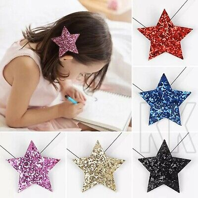 12Pcs Star Butterfly Hair Clips Snaps For Girls Kids Head Accessories Gifts