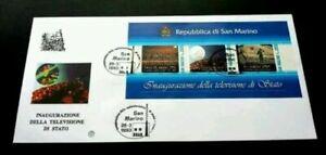 SJ-San-Marino-Inauguration-Of-Television-Studio-1993-FDC-Hologram-unusual