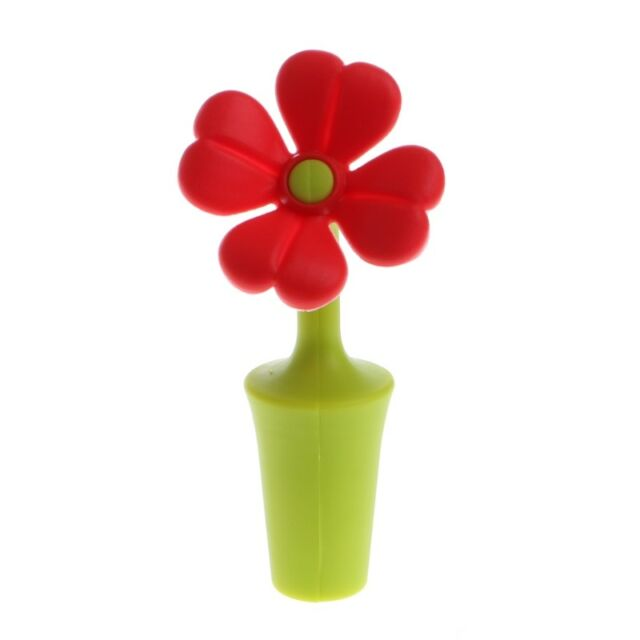 Wine Bottle Stopper Silicone Preservation Wine Stoppers Kitchen Flower Bar 6L