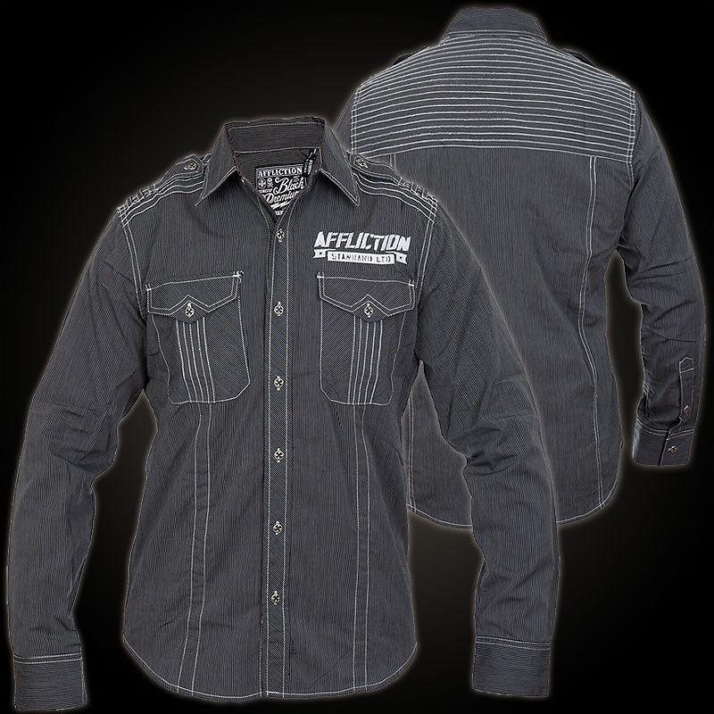 AFFLICTION Hemd Legion Schwarz Hemden Herren  affliction Legion affliction  | New Product 2019