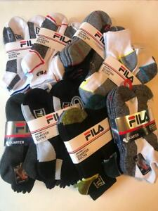 New-Fila-Men-s-Quarter-Socks-Sport-Athletic-Gym-6-Pairs