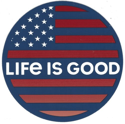 """NEW LIFE IS GOOD 4/"""" STICKER DECAL...AMERICAN FLAG COIN!!"""