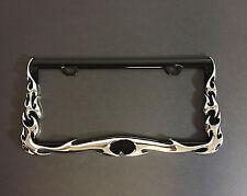 3D Chrome Flame License Plate Frame - Univesral
