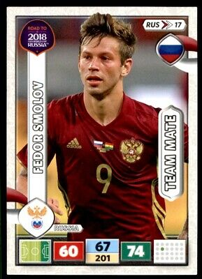 Rus17-Fedor Smolov-Team mates-Panini Adrenalyn Road to World Cup 2018