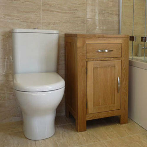 Solid Oak Bathroom Furniture Basin Cabinet Wide X Single