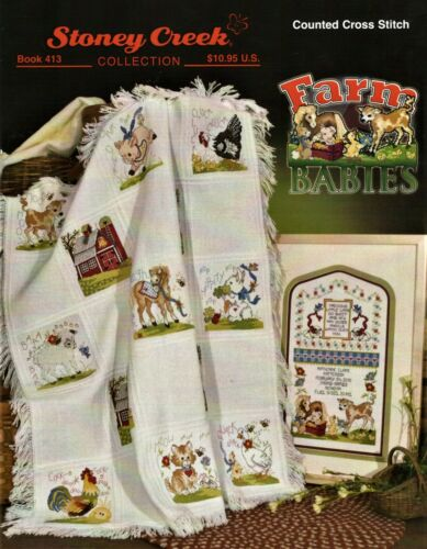 Farm Babies by Stoney Creek BK413 Christmas cross stitch pattern