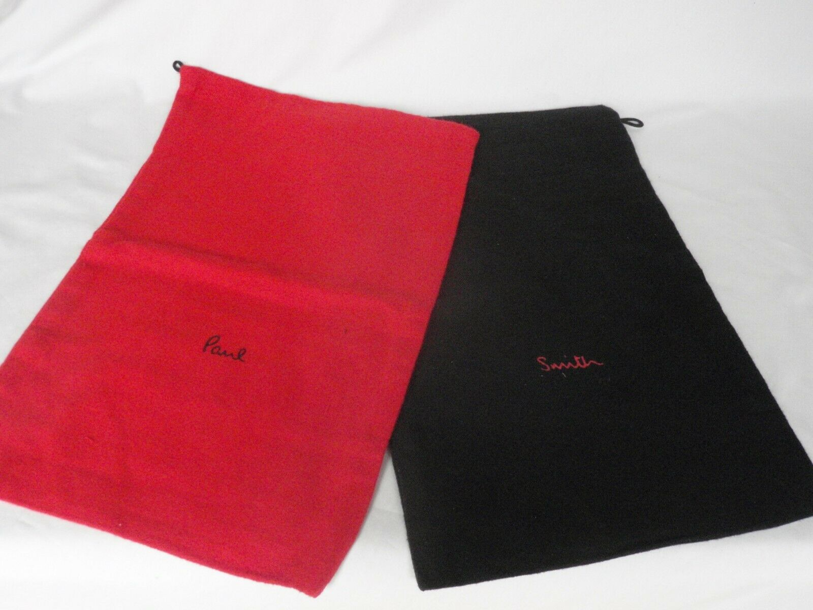 Paul Smith Large Black & Red Cotton Dustbag Sleeper Shoe Bags 1 Pair
