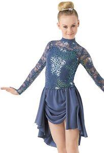 Ice skating dress Competition Figure Skating Baton Twirling Costume Dance