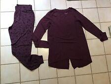 AnyBody Loungewear Cozy Knit Novelty Print Pajama Set Black Star XL NEW A296084