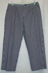 Requirements-Womens-Size-16-Capri-Shorts-Navy-amp-White-Railroad-Stripe