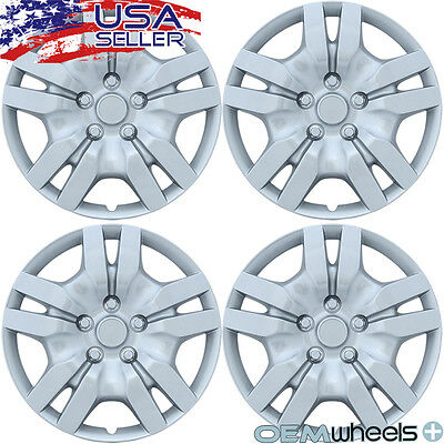 "4 NEW OEM SILVER 16"" HUB CAPS FITS NISSAN SUV CAR ABS CENTER WHEEL COVERS SET"