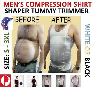 c90482c9babd6 Image is loading MENS-SLIMMING-COMPRESSION-VEST-UNDERSHIRT-BODY-SHAPERS- BELLY-