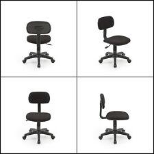 Armless Task Chair Classic Computer Desk Swivel Chair Office Dorm Kids Black