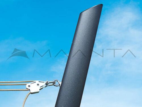 Höhenverstellbarer Mast für Sonnensegel 75° Anthrazit Ulisse