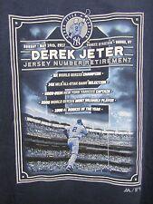 MLB Derek Jeter Yankee Stadium Number Retirement Day T-Shirt Adult L Majestic