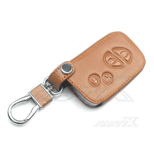4 Buttons Leather Key Cover Case For Lexus GX LX RX ES350 IS350 Brown Remote Fob
