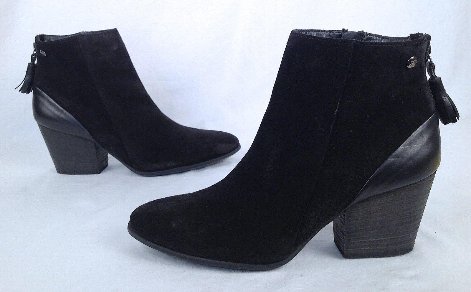 Paul Green Black Suede Bootie- Size 10 US/ 7.5 EU $440-(P10)
