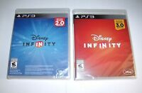 Disney Infinity 2.0 & 3.0 Game Disc Brand Sealed In Case Ps3 Playstation 3