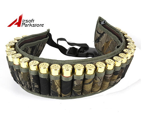 Hunting Sporting Goods Tactical 28 Round Shotgun Shell Belt Holder 12ga 20ga Waist Ammo Pouch W/ Pocket