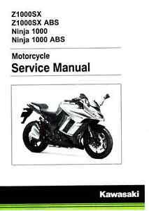 2014 2015 2016 kawasaki ninja 1000 z1000sx motorcycle service manual rh ebay com kawasaki ninja 650r manual pdf kawasaki ninja 300 manual