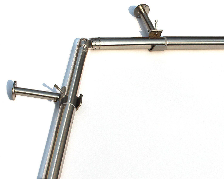 Urbanest Bay Window Curtain Rod Set 1 Inch For Sale Online