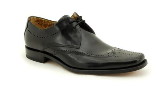Loake Rahmengenähte Premium Herrenschuh 2 Eye Bryant Black Shoe