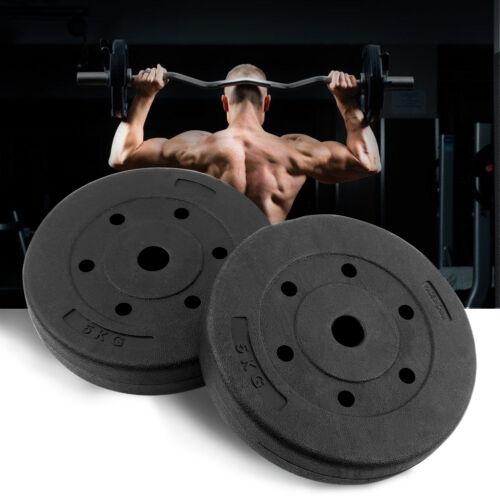 1 Paar Hantelscheiben 10kg Guss Gewichte Hantel Set Gewichtsscheiben Schwarz Neu