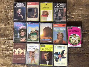 Vintage Cassette Tapes Job Lot Manilow Barbara Dickson Perry Como
