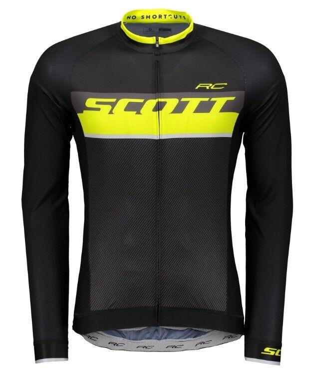 Lange Ärmel Scott RC pro Schwarz Sulphul Gelb Jersey L Sl Scott RC Pro