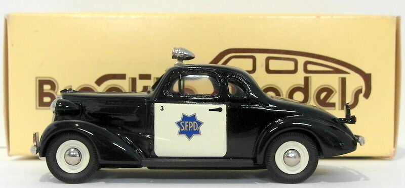 BROOKLIN 1 43 scale brk4 - 1937 CHEVROLET Police sfbbc SPECIAL 1991 1 of 300