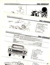 1964 CHEVROLET IMPALA BEL AIR 64 BODY PARTS FRAME MOTORS CRASH ILLUSTRATIONS M3