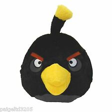 "Angry Birds Black Bird Plush with Sound 12"""