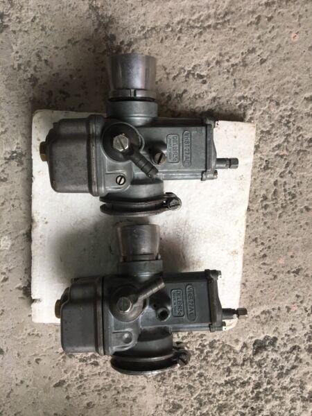Bello Coppia Carburatori Dellorto X Guzzi Bicilindriche