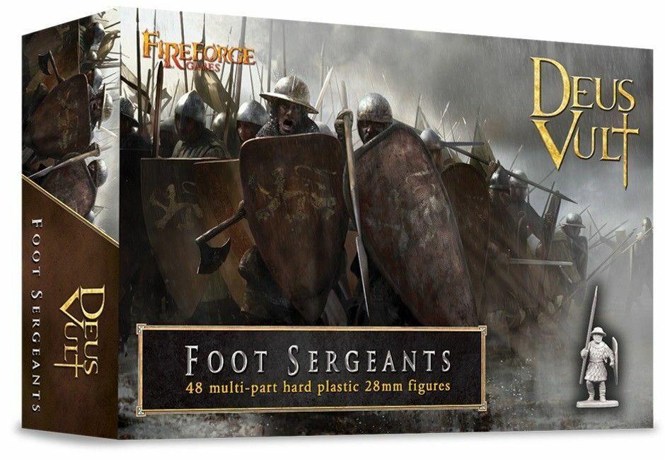 FIREFORGE GAMES Deus Vult Foot Sergeants 49 Model Figures Wargaming FREE SHIP