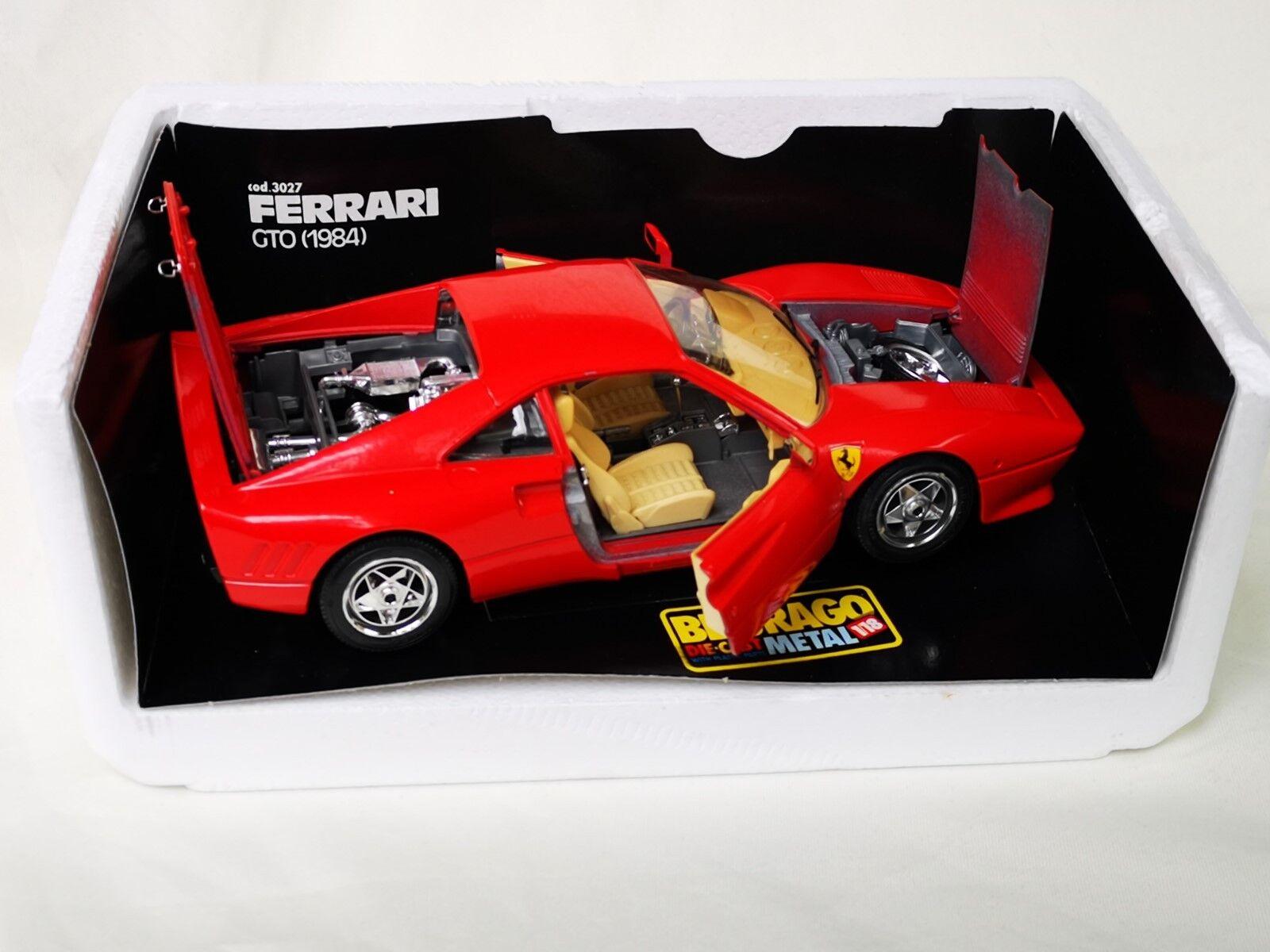 Bburago Ferrari GTO (1984) Die Cast Metal nr 3027 1 18 lådaed