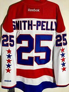 big sale 5549d e4a01 Details about Reebok Premier NHL Jersey Washington Capitals Devante  Smith-Pelly White sz S