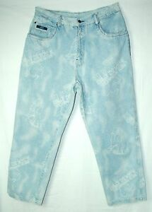 DJ-White-Text-Embellished-FADED-SCHOOL-OF-HARD-KNOCKS-Classic-Jeans-38-32