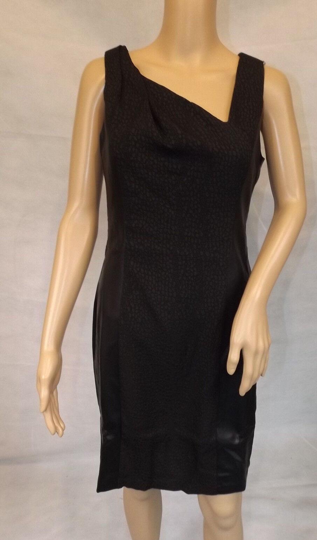 Andrew Marc   36  Minikleid Lederimitat asymmetrisch figurbetont schwarz