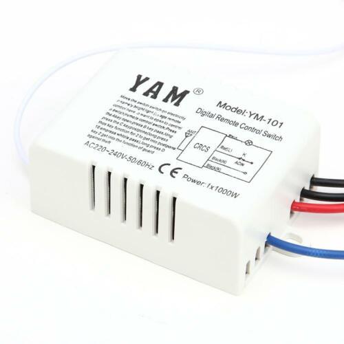 Neue 1//2//3 Kanal Weg ein-//220V Lampe Licht Fernbedienung Schalter digitale