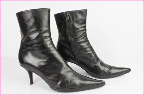 Janie Paris 41 Cuir Noir Tbe Philip T Bottines Boots pqx566