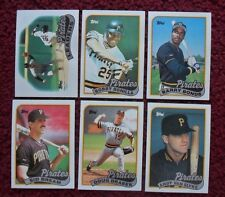 1989 Topps Pittsburgh Pirates Baseball Team Set (32 Cards) ~ Barry Bonds Bonilla
