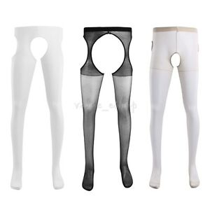 New-Men-039-s-Hollow-Out-Tight-Pantyhose-Stretch-Sleeve-Sheath-Stocking-Underwear