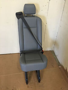 2015 Ford Transit Van 1 Person Rear Seat Gray Vinyl With